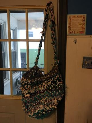 Upcycled Braided Handstitched Shoulder Bag
