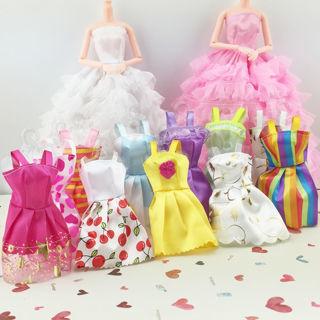 10PCs Fashion Handmade Dresses Skirt Clothes For Barbie Doll Style Random