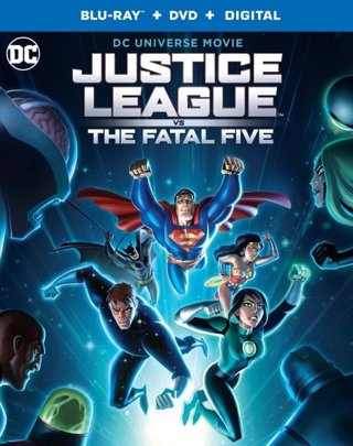 Brand New DC Justice League VS The Fatal Five Blu-Ray + DVD + Digital