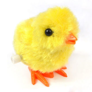 Funny Wind-up Hopping Jumping Chicken Clockwork Walking Toys Kids Children x1