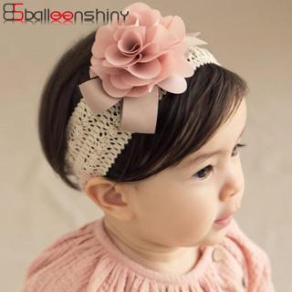 BalleenShiny Baby Girls Lace Flower Headband Princess Elastic Floral Turban Fashion Lovely Soft Ha