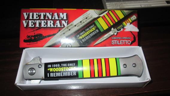 VIETNAM VETERAN STILETTO / KNIFE, NEW IN BOX