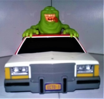 2016 GHOSTBUSTERS ECTO-1 all-plastic car with ghost on top with lights & sounds - ON/OFF switch
