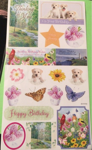 Adorable birthday sticker sheet