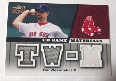Free Tim Wakefield Jersey Card Upper Deck Ud Game Materials