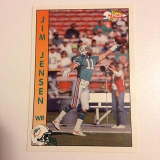 1992 Pacific Miami Dolphins Jim Jensen Football Card