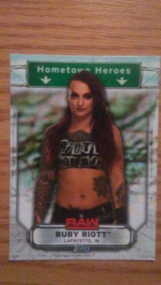 WWE 2019 Ruby Riot Hometown Heroes Special Insert Card