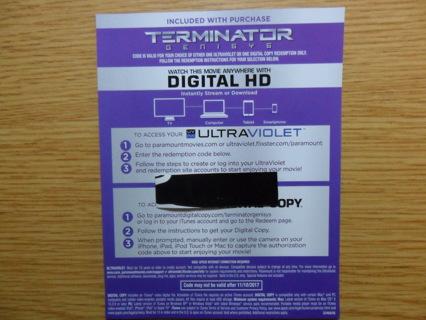 Free: (NEW RELEASE) TERMINATOR GENISYS (UV Digital HD Code For VUDU