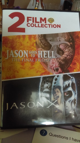 2 film collection.  Jason goes to Hell &. Jason X