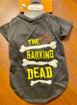 Brand New Gift Quality Halloween The Barking Dead Black Dog Costume (Unisex) Size Small with Tag!