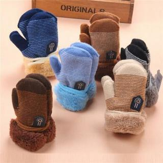 [GIN FOR FREE SHIPPING] Lovely Winter Baby Kids Warm Thicken Fur Gloves Mittens On String