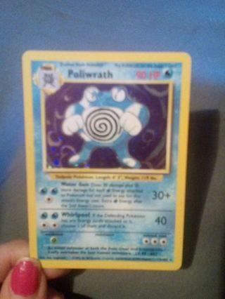 Holographic Poliwrath pokemon card