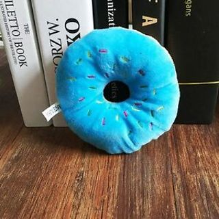 Squeaky Puppy Squeaker Animal Play Pet Donut 3 Color Pet Toys Dog Toy