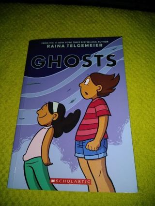 ⚛✨⚛GHOSTS BOOK IN EUC (BY:RAINA TELGEMEIER)⚛✨⚛#1 NEW YORK TIMES BEST SELLING AUTHOR+BONUS BOOKMARK