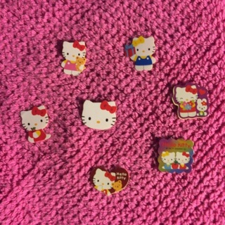 Sanrio Hello Kitty Sticker Flakes ~ 7 TOTAL ~ VERY KAWAII!!