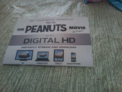 THE PEANUTS MOVIE DIGITAL HD CODE