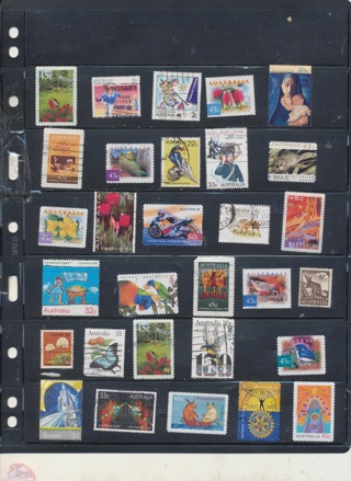 (30) Stamps from Austrlia,  All Different, Vintage, Used, Cancelled - AUS-114