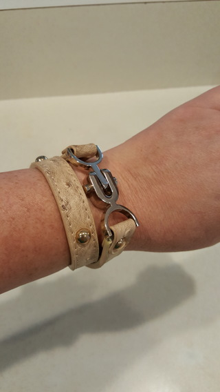 Gorgeous leather wrap bracelet! New!