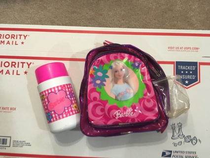 barbie backpack and thermos