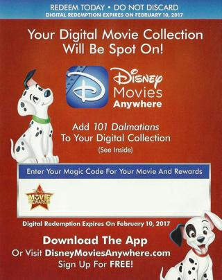 free 101 dalmations disney digital movie code movie rewards