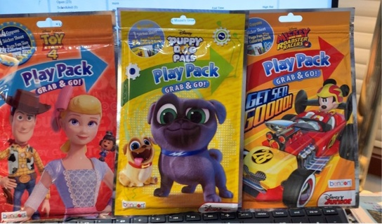 Lot of 3 Play Packs Grab N Go Great Stocking Stuffers! Great collection for Boys or Girls!