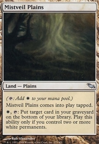(1) Mistveil Plains - Shadowmoor - HEAVY PLAY - MTG magic the gathering UNCOMMON