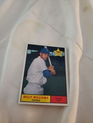 Billy Williams 1961 rookie iconic card