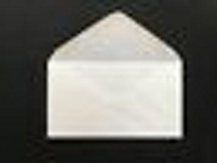 10 Ct White Plain Regular Envelopes-Letter Mailing-Shipping 3-5/8''X 6-1/2 Inch