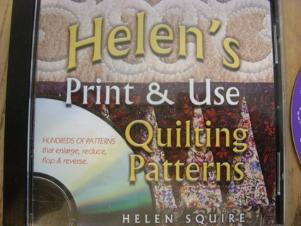 Helen's Print and Use Quilting Patterns CD