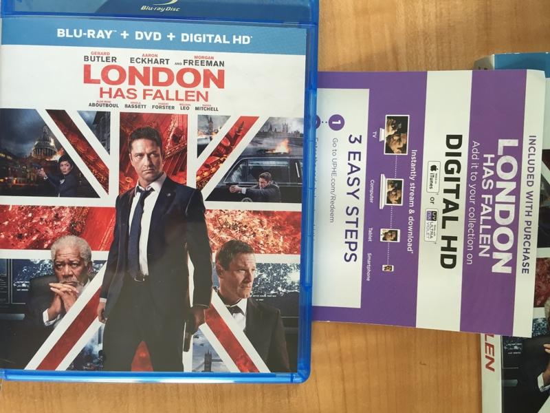 Free: London has Fallen digital HD UV/ITunes movie download