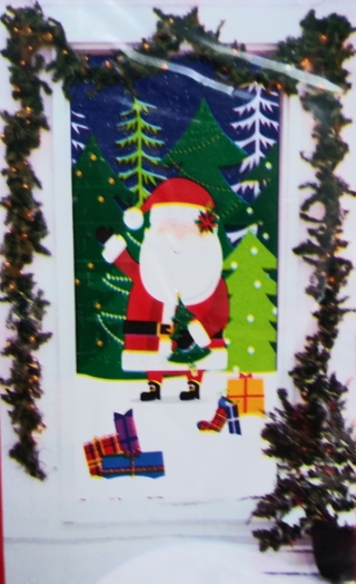 CHRISTMAS DOOR COVER DECORATION 30 INCHES X 60 INCHES