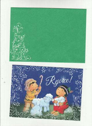 Christmas Card Unused With Envelope Cute manger scene