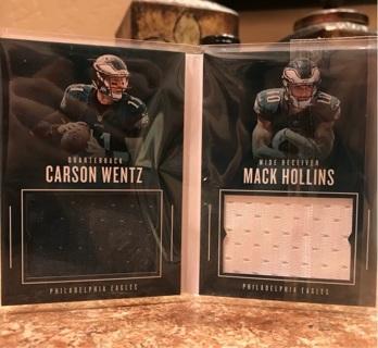 sale retailer 3a910 12662 Free: Carson Wentz & Mack Hollins Jersey Booklet ! - Sports ...
