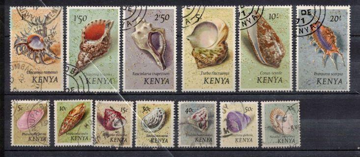 Kenya Stamps Seashells