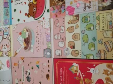 Kawaii Memo Sheets & Sticker Flakes Galore!