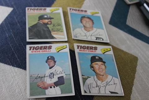 (4) 1977 Topps Baseball Detroit Tigers MLB