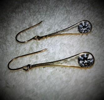 Estate Find Gorgeous 14K Hallmarked Dangle Long Earrings