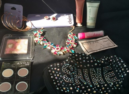 Tiered Victorias Secret  Ulta Make up, Jewelry, mask, Bath and Body works Lotion