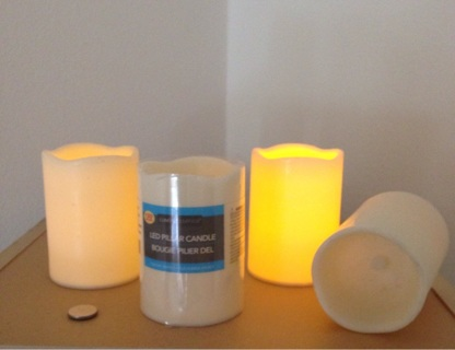 Set of Four Flickering Candles - Battery Operated