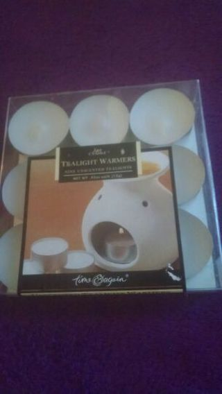 9 pack white tealight warmers(unscented)