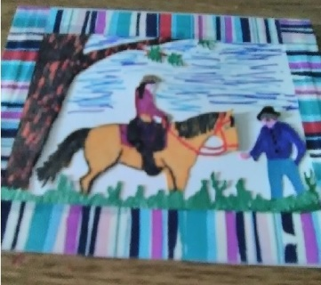 """ Summer Ride"" Design Blank Card with Envelope"
