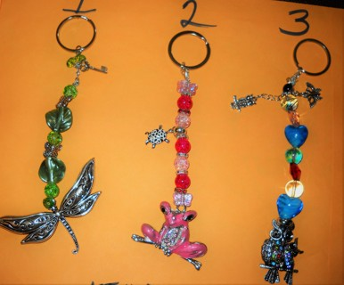 Beaded Key Chains/ Car Hangers( 1 piece)