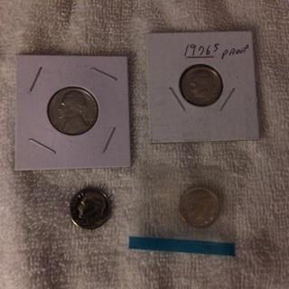 Proof coins-see description
