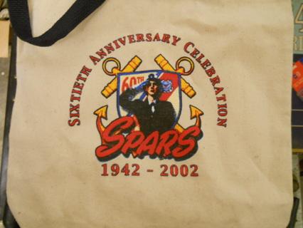 VINTAGE US COAST GUARD 60th ANNIVERSARY SPARS TOTE BAG
