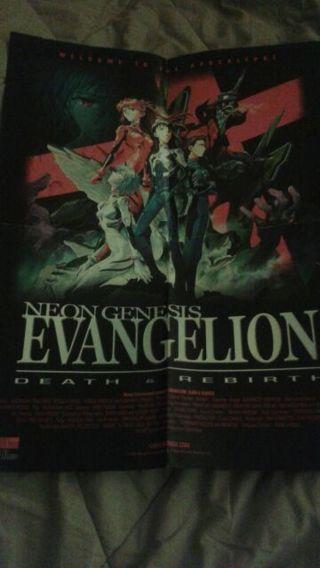 Neo genesis evangelion death and rebirth movie poster