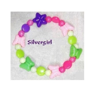 Childs Girls Kids Tweens Teen Stretch Beaded Bracelet MANY CHOICES