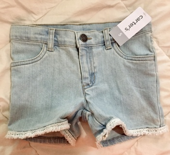 New Carters Jean Shorts Size Girls 5