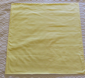Yellow Flannel Baby Receiving Blanket New Handmade