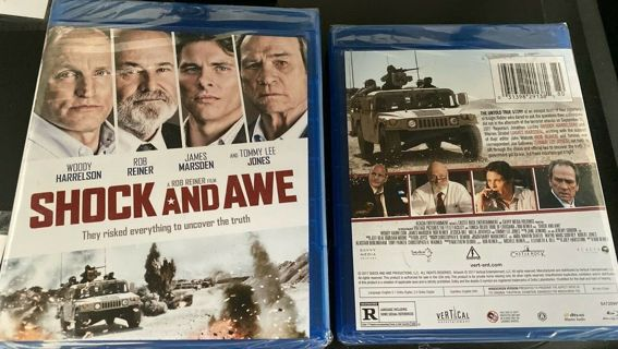 2017 Shock & Awe-Woody Harrelson (Blu-ray Movie Disc)-New & Sealed-Rated R