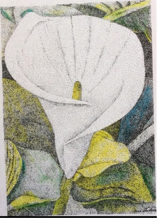 """CALA LILY - 5 x 7"""" art card by artist Nina Struthers - GIN ONLY"""